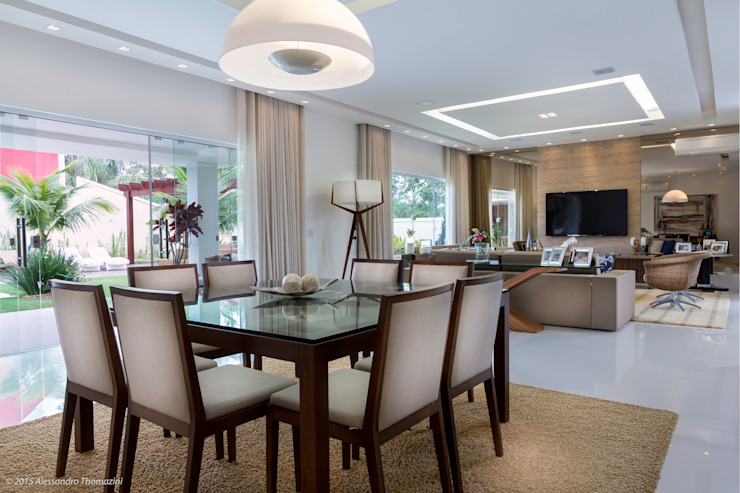 Modern Dining Room by Adriana Leal Interiores Modern Wood Wood effect