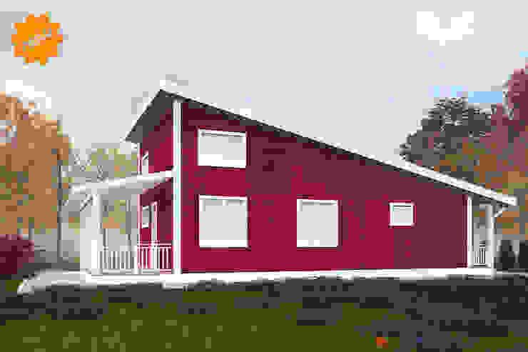 Второй фасад дома Норвегия Дома в скандинавском стиле от Mild Haus Скандинавский Изделия из древесины Прозрачный