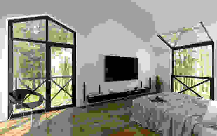 Dormitorios de estilo moderno de Mild Haus Moderno Derivados de madera Transparente