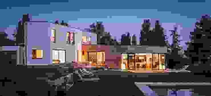 maison ossature bois IDF Lieux d'événements modernes par homify Moderne Bois Effet bois