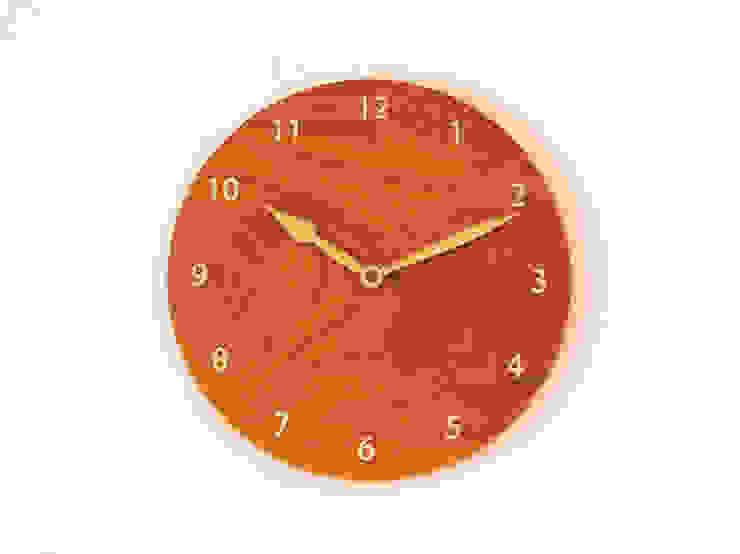 掛け時計 ケヤキ材: 木工 木の香が手掛けた折衷的なです。,オリジナル 木 木目調