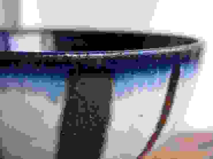瑠璃釉どんぶり: 中ムラ ミホが手掛けた折衷的なです。,オリジナル 陶器