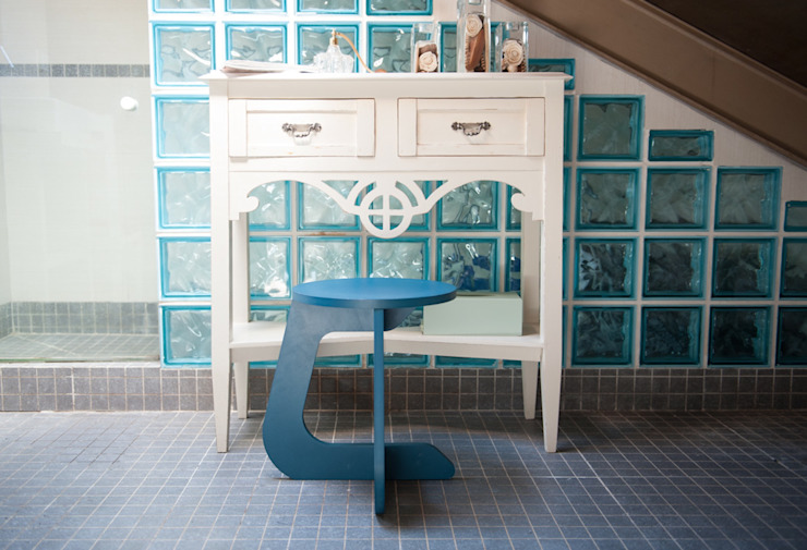 TABUHOME BathroomSeating Wood Blue