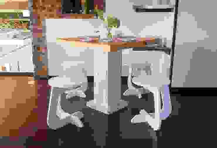 TABUHOME CuisineTables, chaises & bancs Synthétique Blanc
