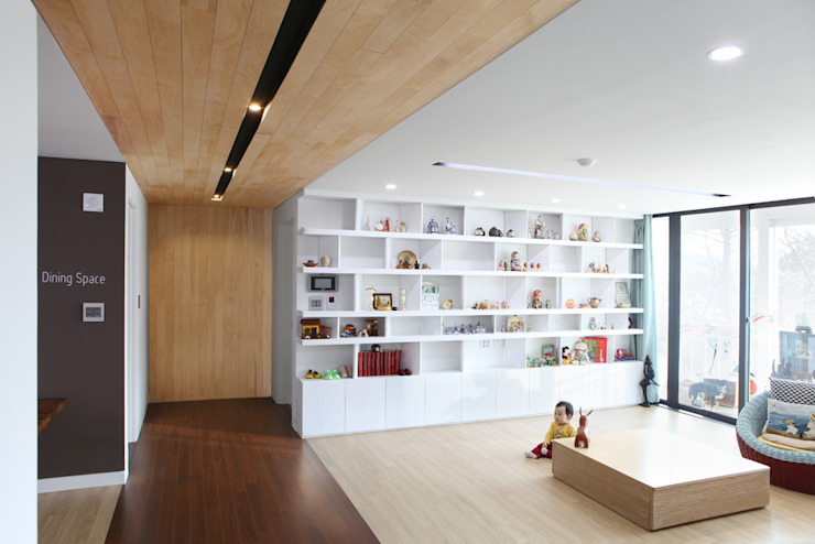Hongeun-dong apartment unit remodeling 모던스타일 거실 by designband YOAP 모던