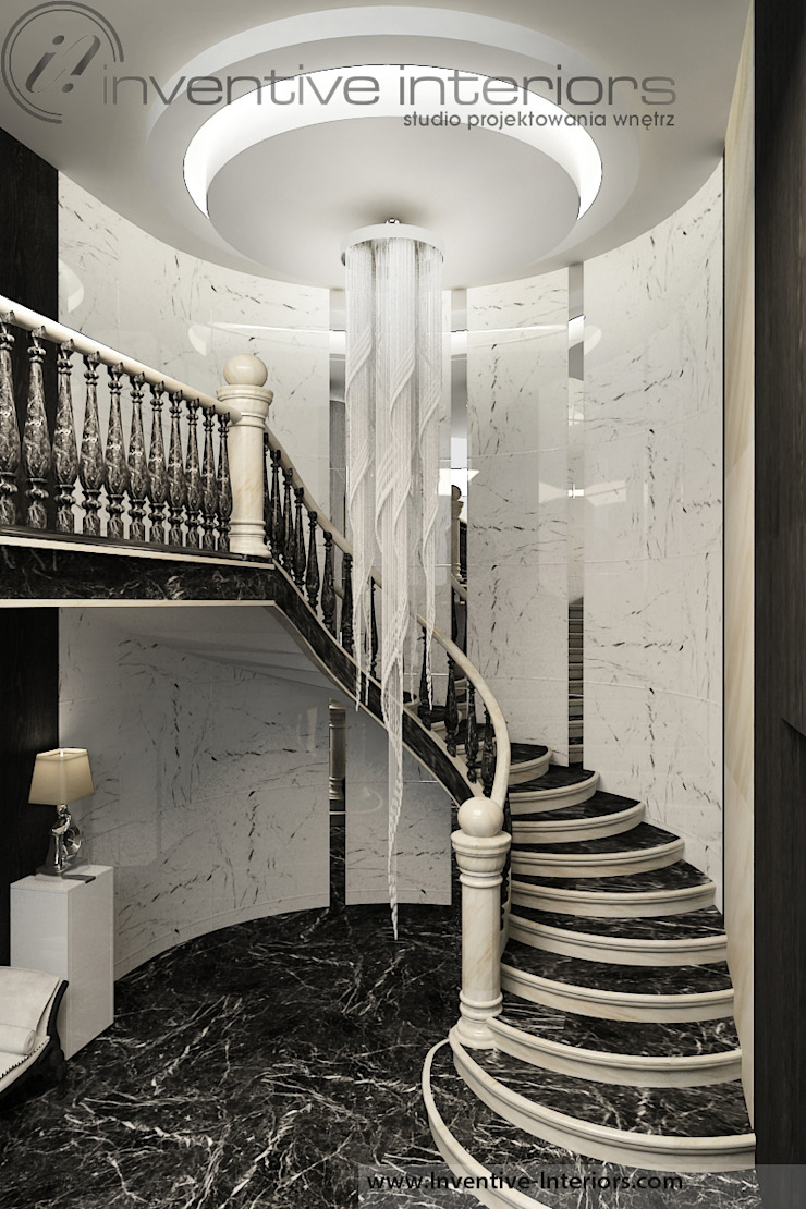 Classic corridor, hallway & stairs by Inventive Interiors Classic Marble