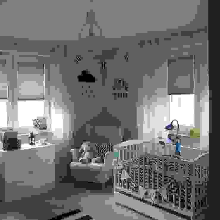 Dom jednorodzinny Skandynawski pokój dziecięcy od studio bonito Skandynawski