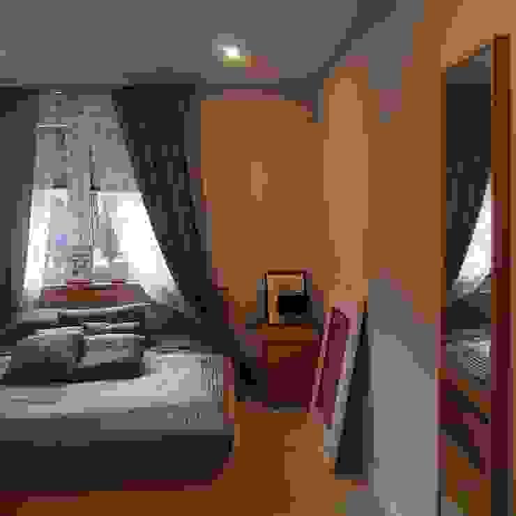 Dom jednorodzinny Skandynawska sypialnia od studio bonito Skandynawski