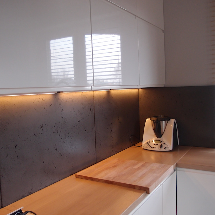 Dom jednorodzinny Skandynawska kuchnia od studio bonito Skandynawski