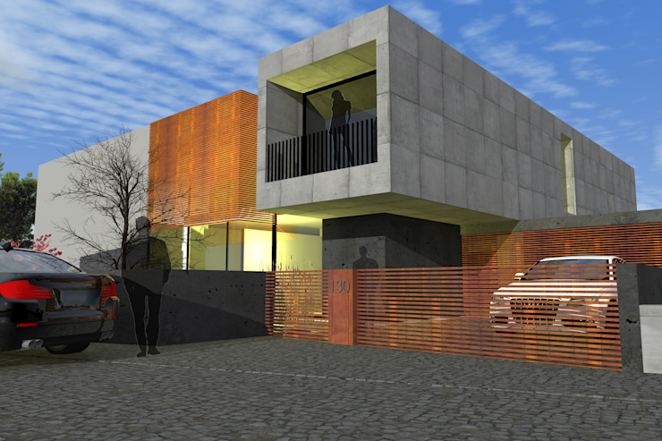 """Casa """"Couve do Corgo"""" Casas modernas por FP Arquitetos Moderno"""