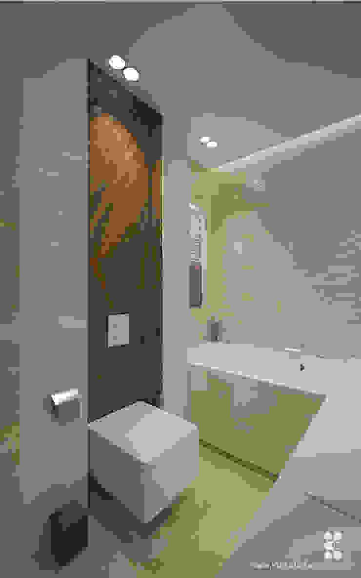 MIESZKANIE NA KAZACHSKIEJ Nowoczesna łazienka od Klaudia Tworo Projektowanie Wnętrz Sp. z o.o. Nowoczesny