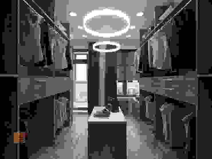 Dressing room by Студия Павла Полынова, Minimalist