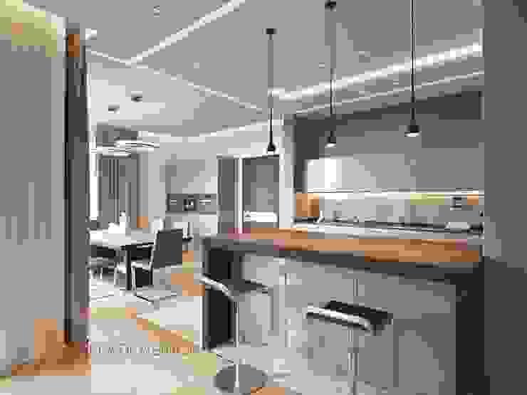 Nhà bếp phong cách tối giản bởi Студия Павла Полынова Tối giản