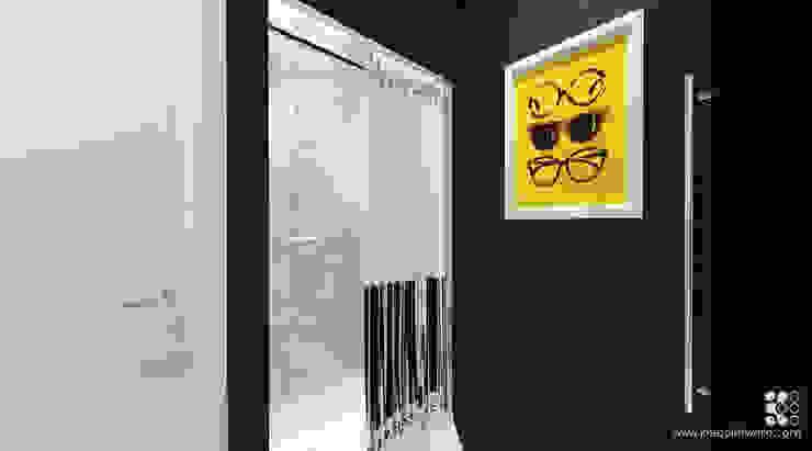 31m2 DLA KAWALERA: styl , w kategorii Łazienka zaprojektowany przez Klaudia Tworo Projektowanie Wnętrz Sp. z o.o.,Nowoczesny