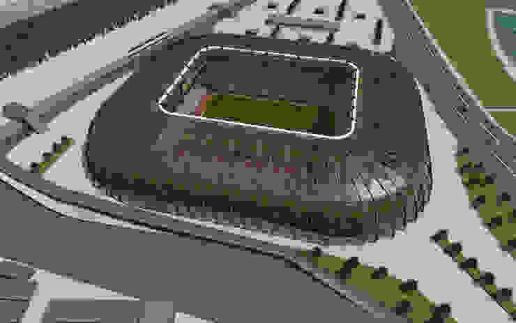 mimari modelleme Modern Stadyumlar Boyut Animasyon Modern