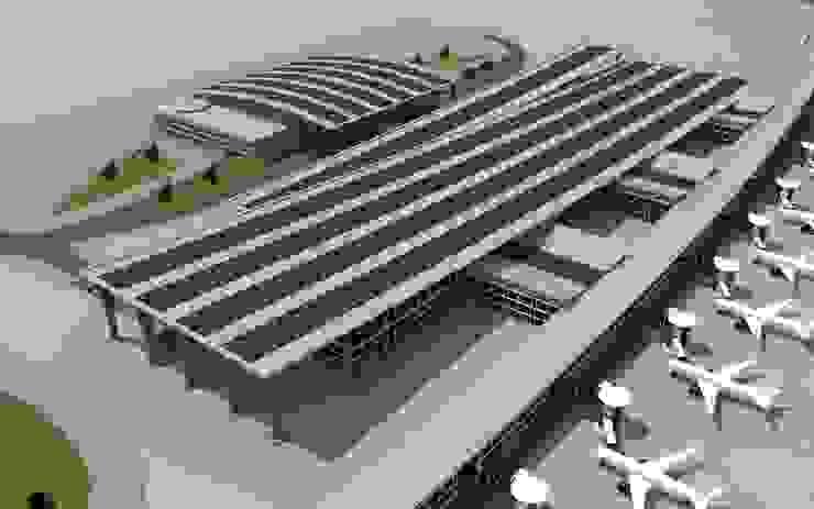 mimari modelleme Modern Havalimanları Boyut Animasyon Modern