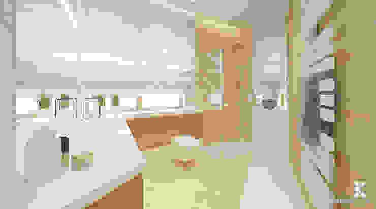 WILLA ALTOWA Nowoczesna łazienka od Klaudia Tworo Projektowanie Wnętrz Sp. z o.o. Nowoczesny