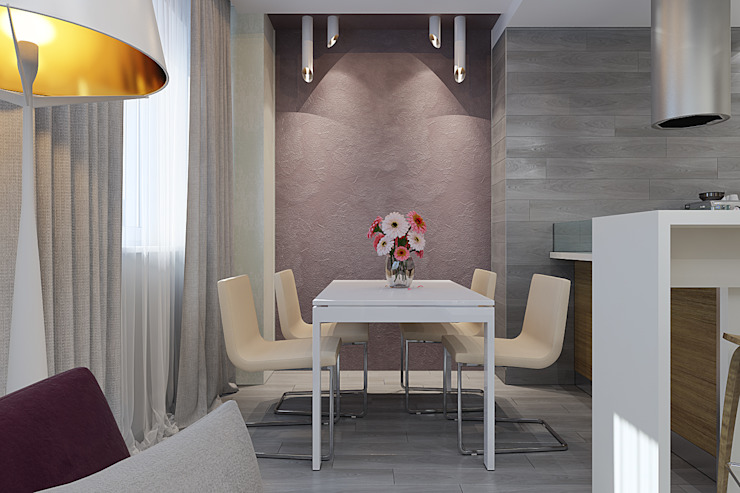 Визуализации проекта Чехова_12 Столовая комната в эклектичном стиле от Alyona Musina Эклектичный