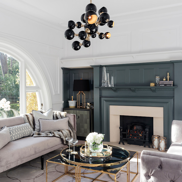 Modern Family Home Refurbishment WN Interiors + WN Store Soggiorno moderno