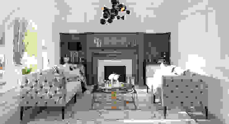 Modern Family Home Refurbishment Salas de estar modernas por WN Interiors Moderno
