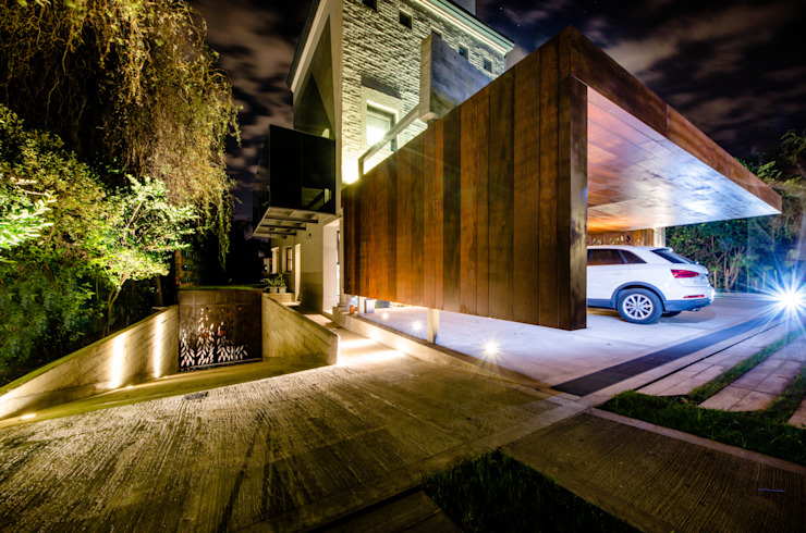 Modern Garage and Shed by BLOS Arquitectos Modern Copper/Bronze/Brass