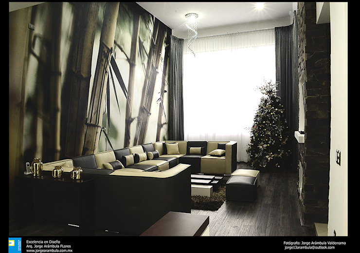 sala Salones modernos de Excelencia en Diseño Moderno Derivados de madera Transparente