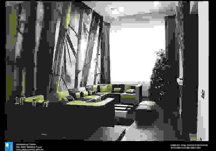 Modern living room by Excelencia en Diseño Modern Engineered Wood Transparent