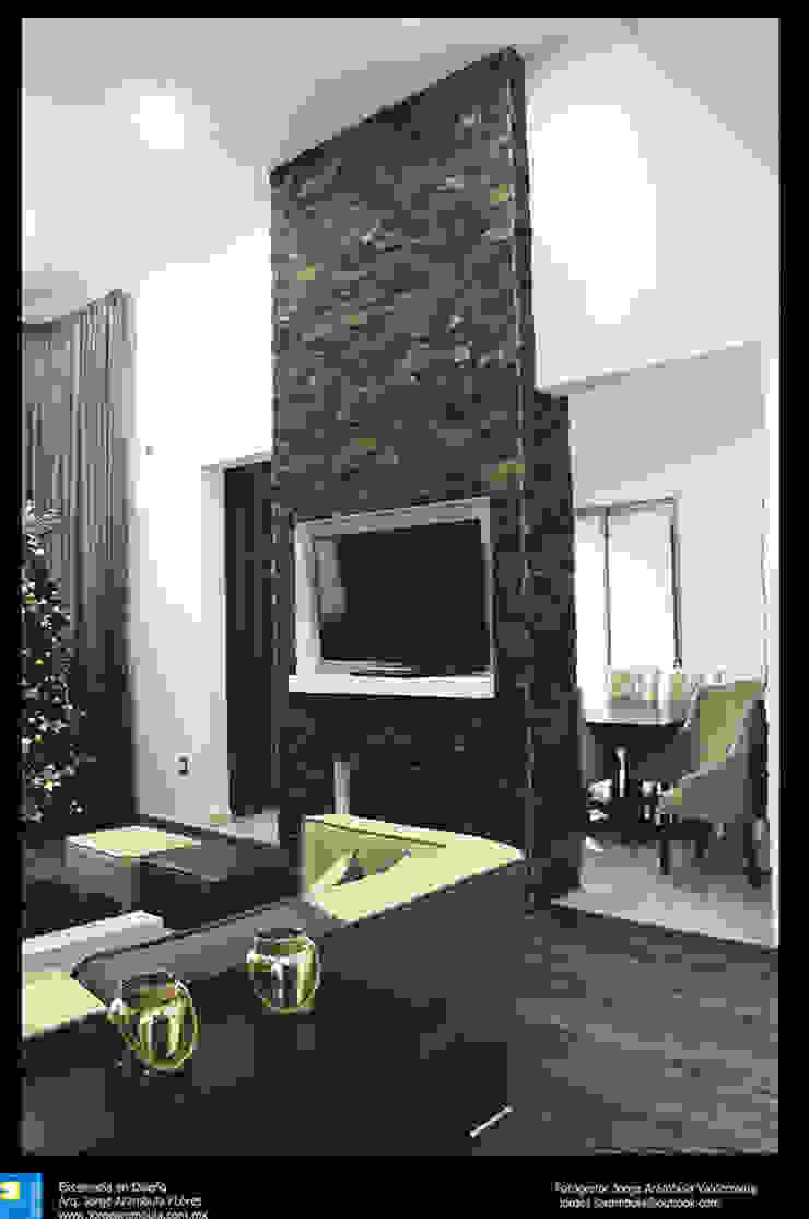 Excelencia en Diseño Living room Engineered Wood White