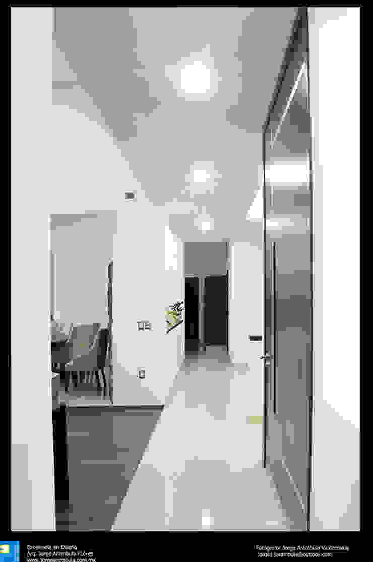 pasillo Pasillos, vestíbulos y escaleras modernos de Excelencia en Diseño Moderno Granito