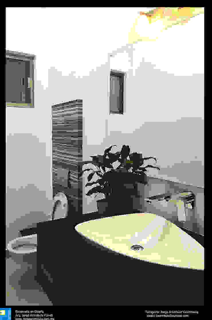 medio baño Baños modernos de Excelencia en Diseño Moderno Granito