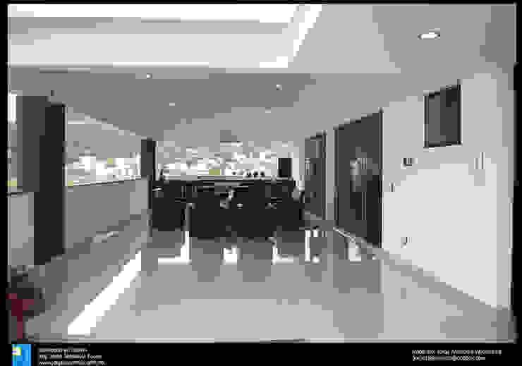 la terraza Balcones y terrazas modernos de Excelencia en Diseño Moderno Cerámico