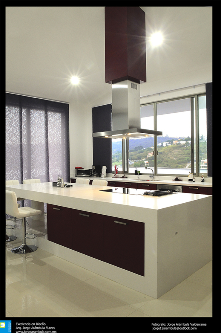 la cocina Cocinas modernas de Excelencia en Diseño Moderno Derivados de madera Transparente