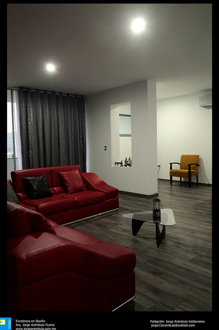 Excelencia en Diseño Media room Engineered Wood Multicolored