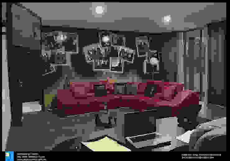 sala de estar Salas multimedia modernas de Excelencia en Diseño Moderno Derivados de madera Transparente