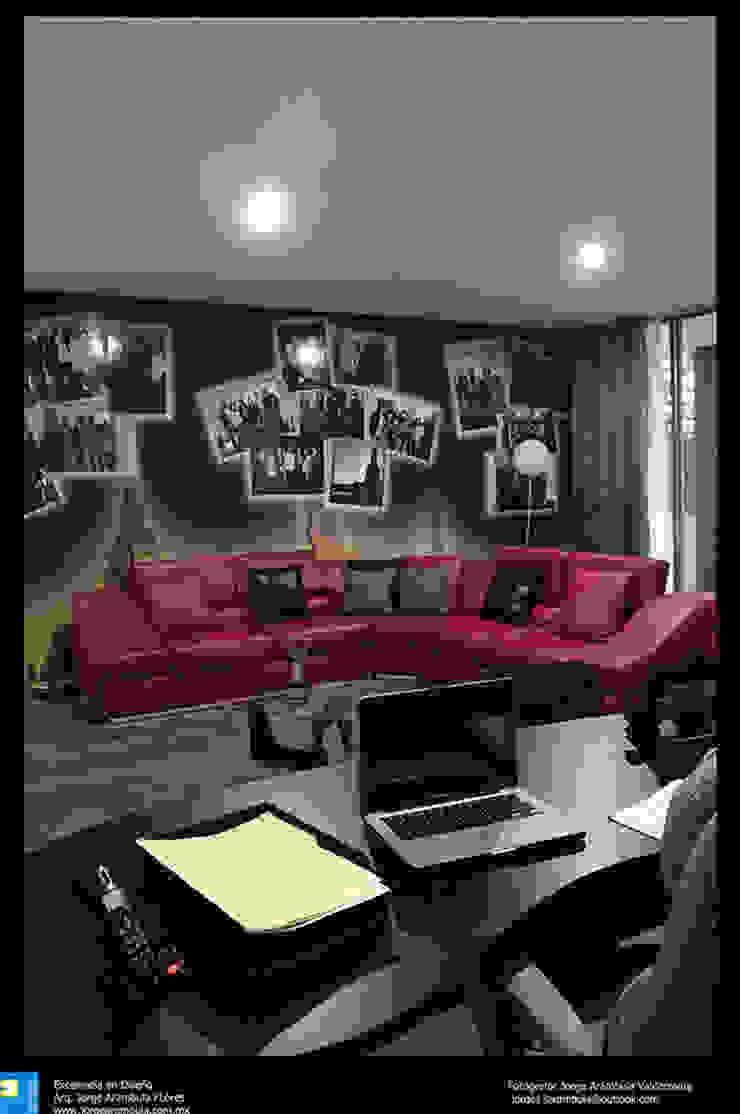 sala de estar de Excelencia en Diseño Moderno Cuero sintético Metálico/Plateado