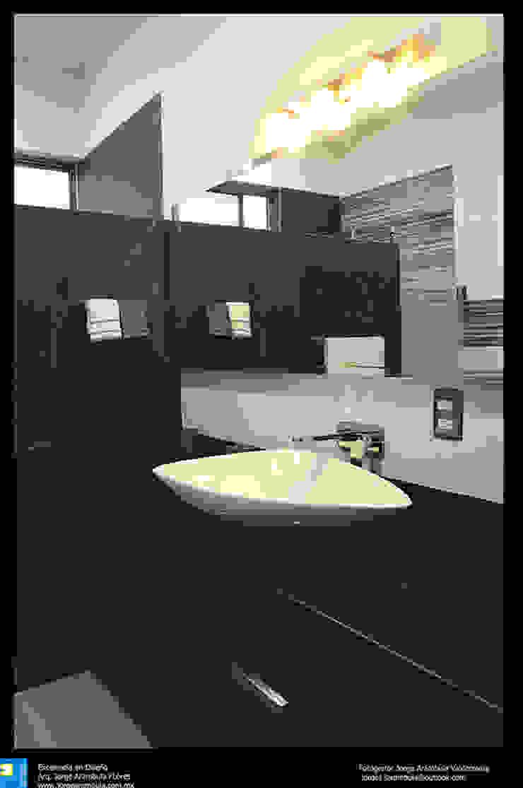 Excelencia en Diseño Modern bathroom Granite Grey