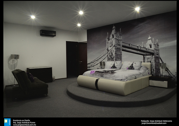 recamara Dormitorios modernos de Excelencia en Diseño Moderno Derivados de madera Transparente