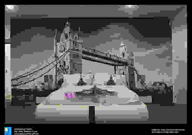 Excelencia en Diseño Modern style bedroom Engineered Wood Grey