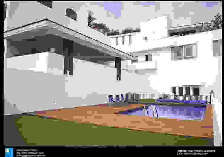 la alberca Albercas modernas de Excelencia en Diseño Moderno Ladrillos