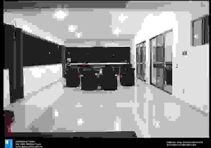 la terraza Balcones y terrazas modernos de Excelencia en Diseño Moderno Granito