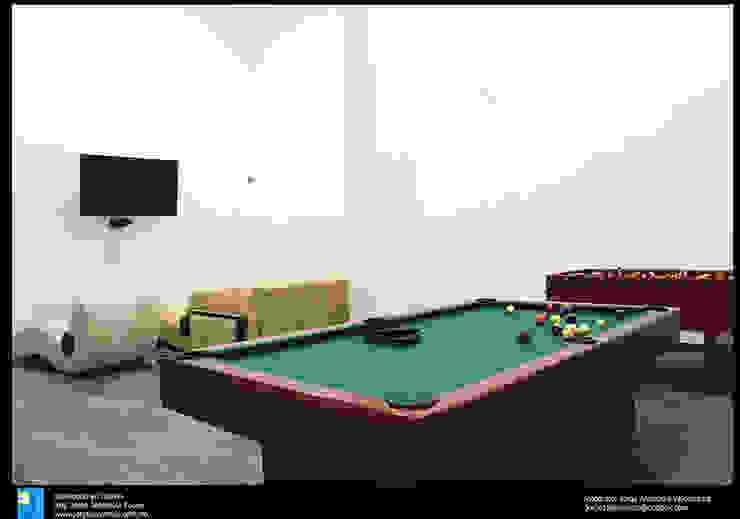 la sala de juegoss Salas multimedia modernas de Excelencia en Diseño Moderno Derivados de madera Transparente