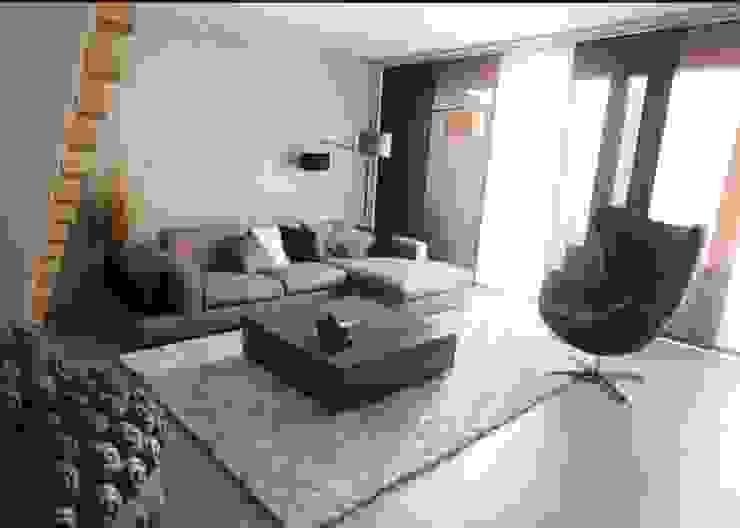 Appartement contemporain zen Salon moderne par CSInterieur Moderne