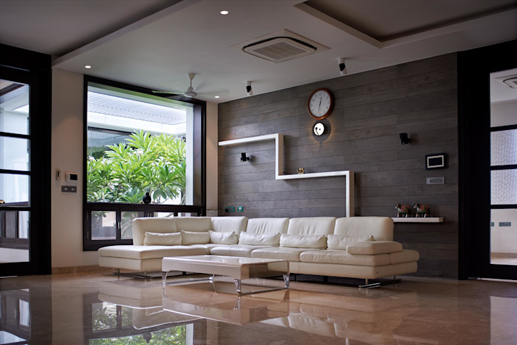 Simple straight lines Modern living room by Cubism Modern