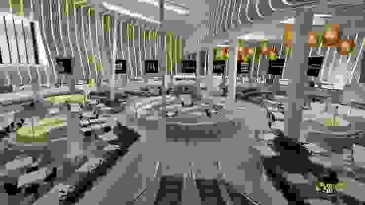 3D Modern Interior Shopping mall - Restaurant Design: modern  by Yantram Architectural Design Studio, Modern