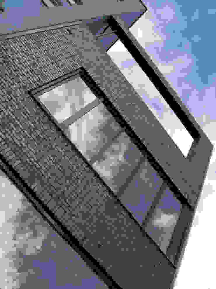 Detail architectuur moderne stadsvilla Amsterdam Moderne huizen van Villa Delphia Modern