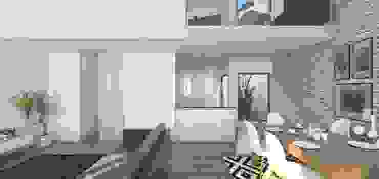 Remodelação Calçada do Combro Salas de estar modernas por Arqui3 Arquitectos Associados Moderno