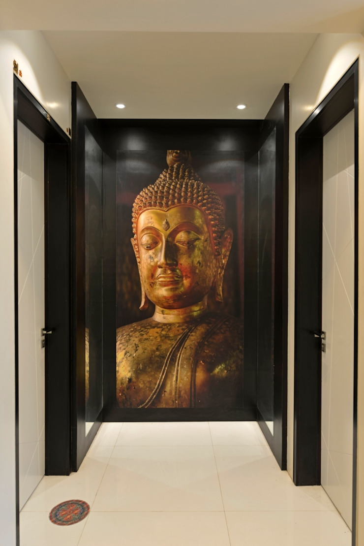 powder toilet foyer: eclectic  by AIS Designs,Eclectic