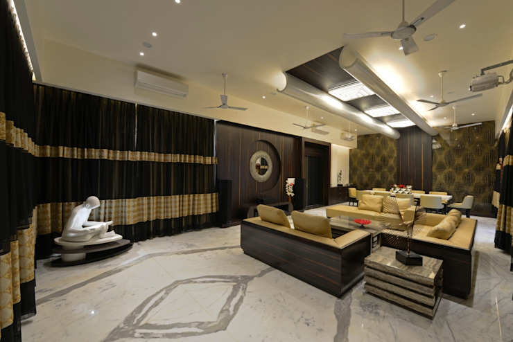 grand heighted formal living : eclectic  by AIS Designs,Eclectic