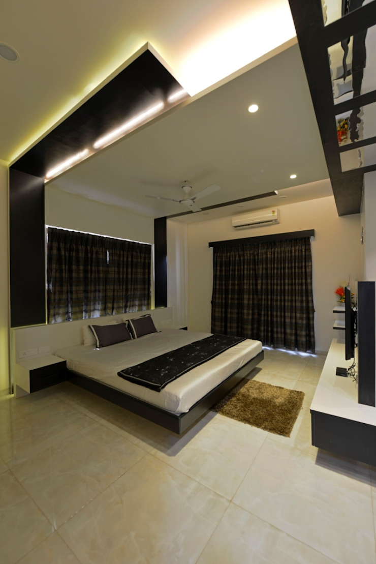 bedroom: eclectic  by AIS Designs,Eclectic