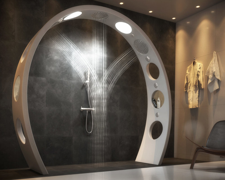 The Arch Showerhead: modern  by QS Supplies, Modern